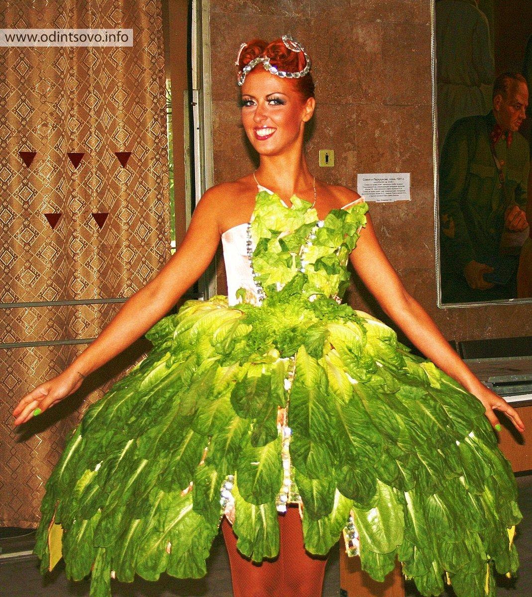 Платье из капустных листьев своими руками